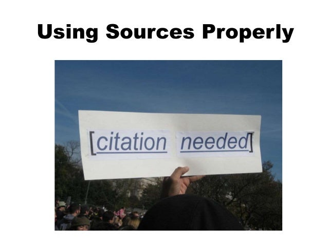 Using and Citing Information Sources