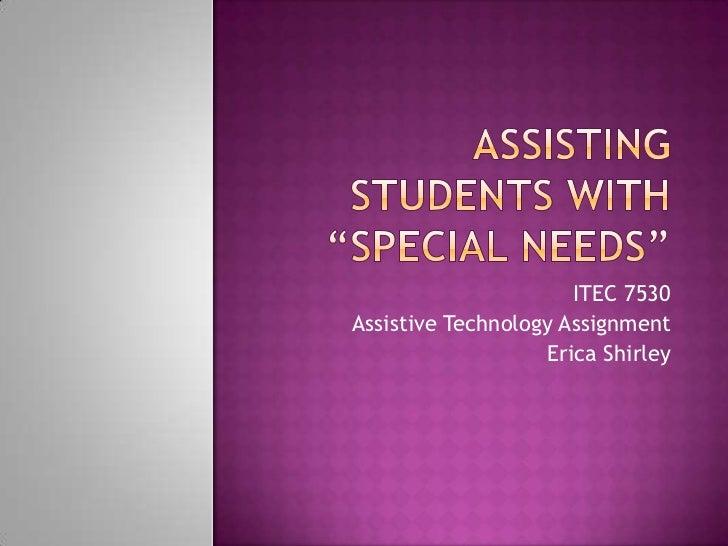 Module 6 assistive activity webcast shirley_erica