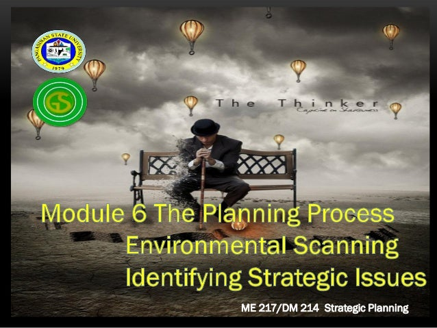 Module 6 Environmental Scanning and Identification of  Strategic Issues & Challenges