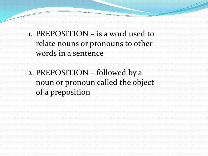 Module 6 PREPOSITION