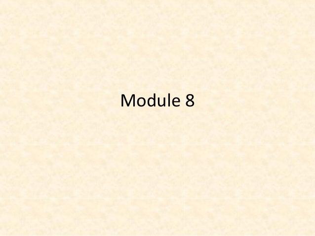 Module 8 - Conflict