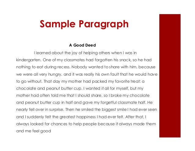 Example essay about helping someone