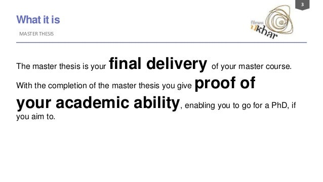 Master thesis budgeting
