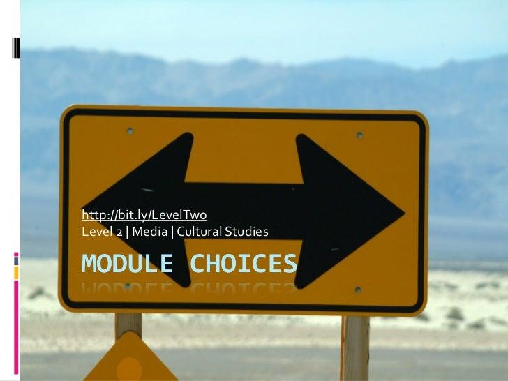 Module choice fair level 2