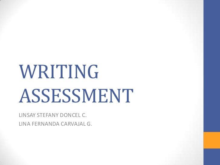 WRITINGASSESSMENTLINSAY STEFANY DONCEL C.LINA FERNANDA CARVAJAL G.
