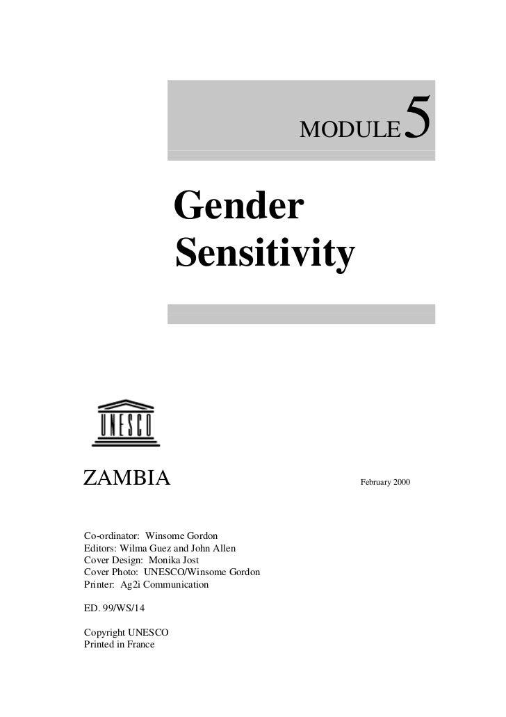 MODULE        5                    Gender                    SensitivityZAMBIA                                  February 2...