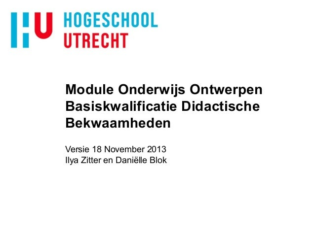 Module oo toelichting module v20nov2013