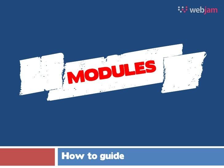 Modules guide