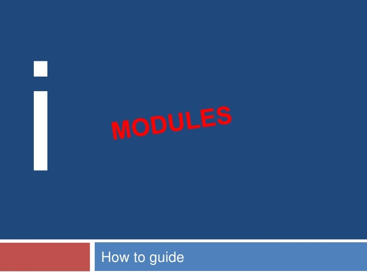 Working with modules