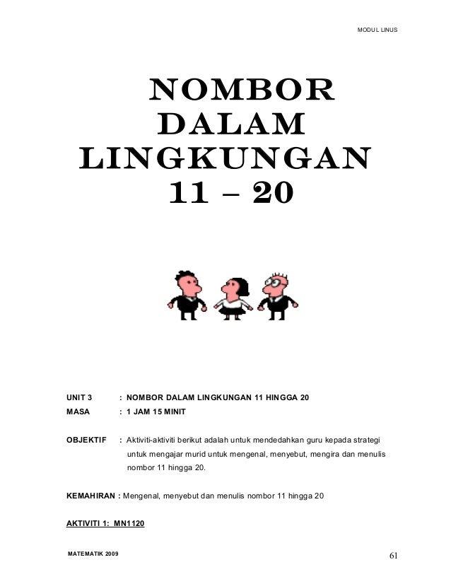 Mengenal Nombor 11-20 11 – 20 Unit 3 Nombor