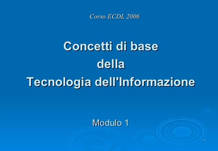 Modulo 1 ECDL