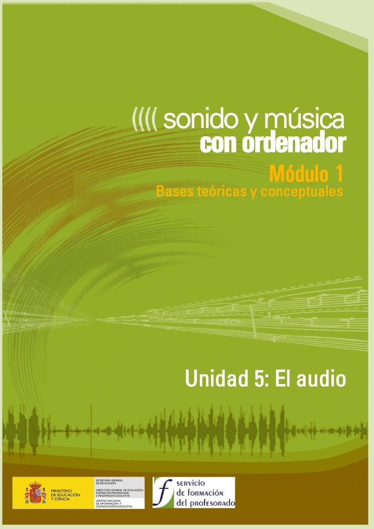 Unidad 5 : El AUDIO   ÍNDICE  Producción musical ............................................................................