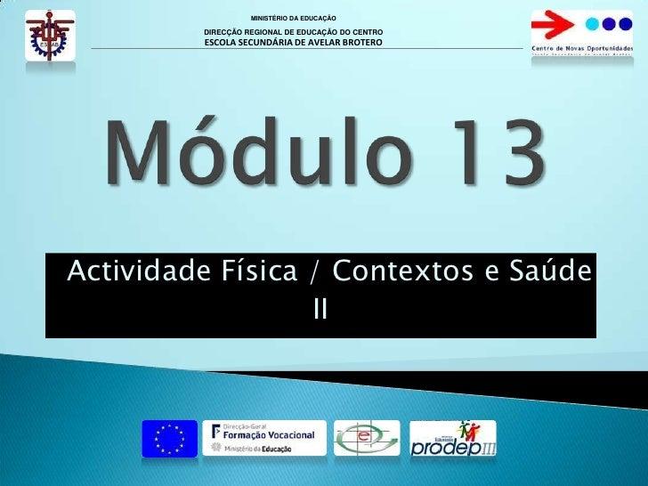 Modulo 13 - II