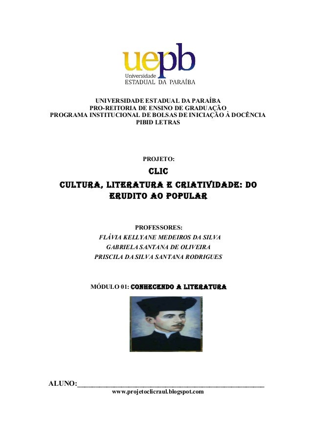 UNIVERSIDADE ESTADUAL DA PARAÍBAPRO-REITORIA DE ENSINO DE GRADUAÇÃOPROGRAMA INSTITUCIONAL DE BOLSAS DE INICIAÇÃO À DOCÊNCI...