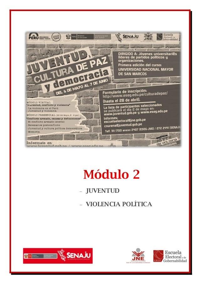  JUVENTUD VIOLENCIA POLÍTICA