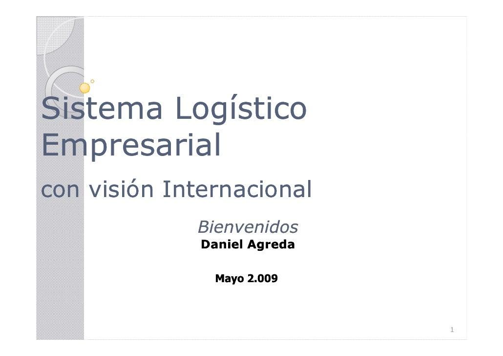 Sistema Logístico Empresarial con visión Internacional              Bienvenidos               Daniel Agreda               ...