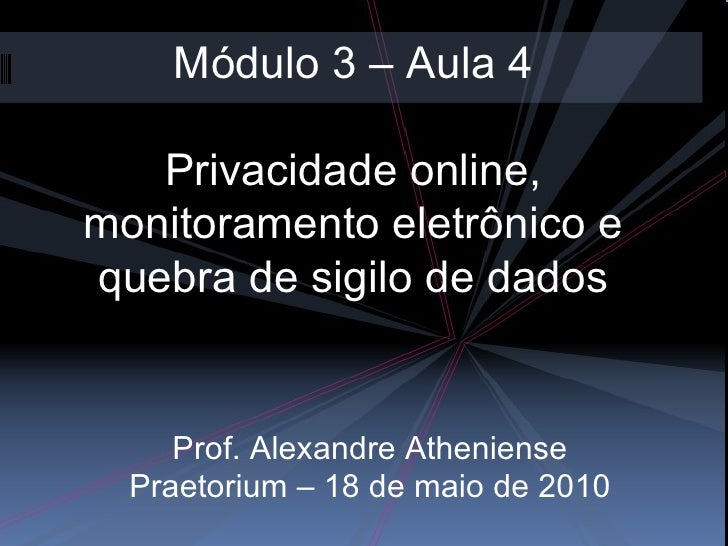 Praetorium Modulo3 aula4-praetorium