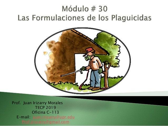 Prof. Juan Irizarry Morales TECP 2019 Oficina C-113 E-mail: juan.irizarry@upr.edu Prof.jirizarry@gmail.com
