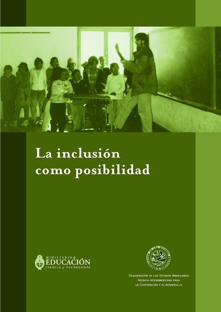 La inclusión como posibilidad