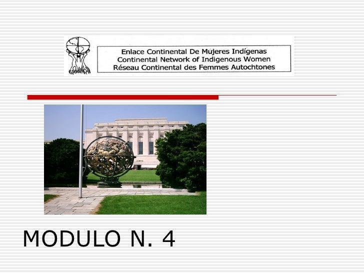 MODULO N. 4