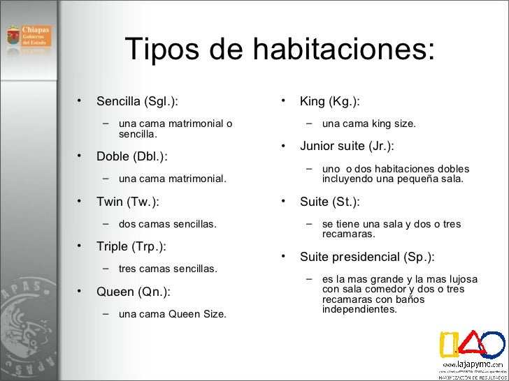 Modulo 4 marketing hoteles for Tipos de servicios de un hotel
