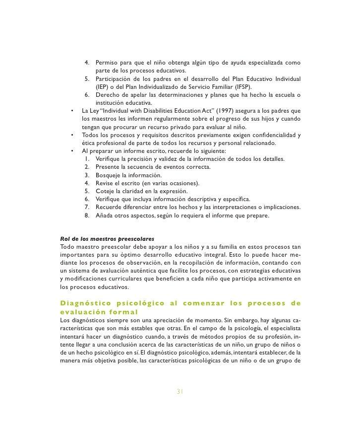 Módulo 5: Assesment Del Desarrollo Y Aprendizaje De La