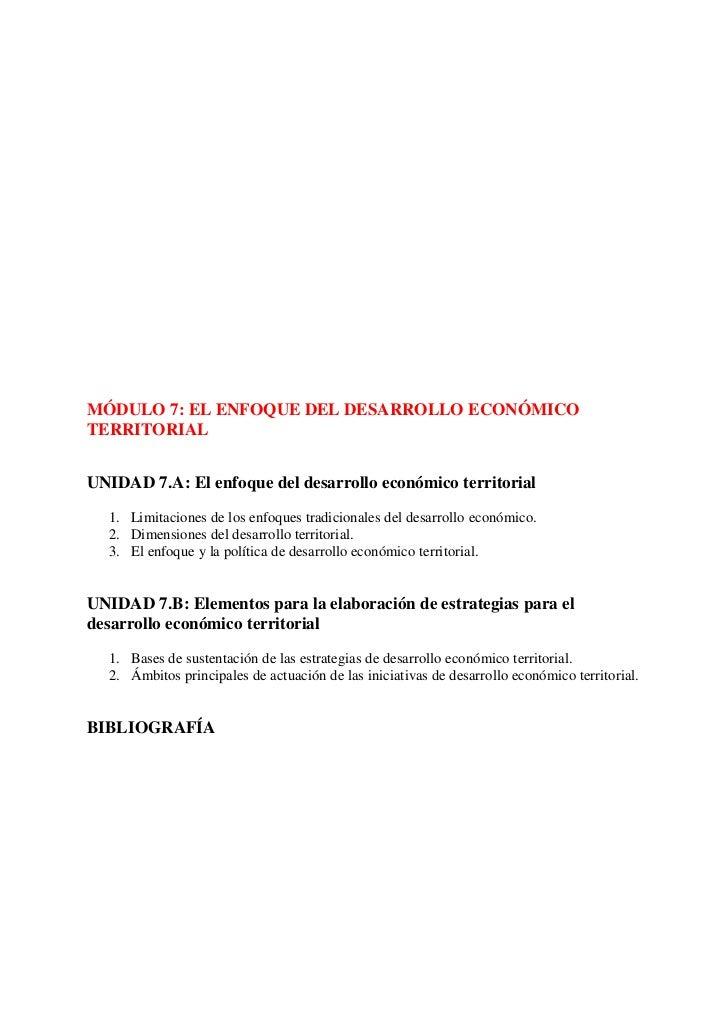 Guía VERSIÓN REDUCIDA de aprendizaje FOMIN sobre proyectos de integración productiva y desarrollo económico territorial - Modulo 7