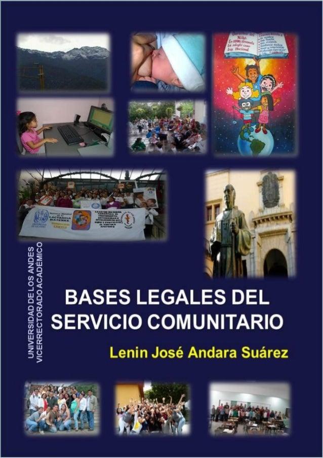 Autor             Profesor Lenin José Andara Suárez, Coordinador del Servicio                            Comunitario de la...