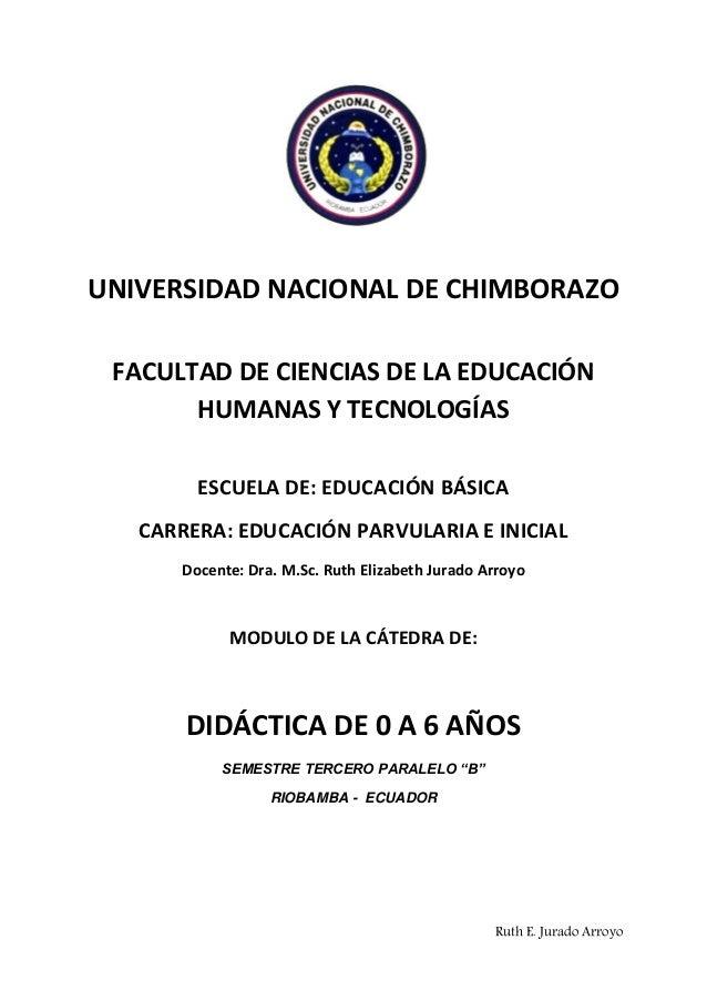 Ruth E. Jurado ArroyoUNIVERSIDAD NACIONAL DE CHIMBORAZOFACULTAD DE CIENCIAS DE LA EDUCACIÓNHUMANAS Y TECNOLOGÍASESCUELA DE...