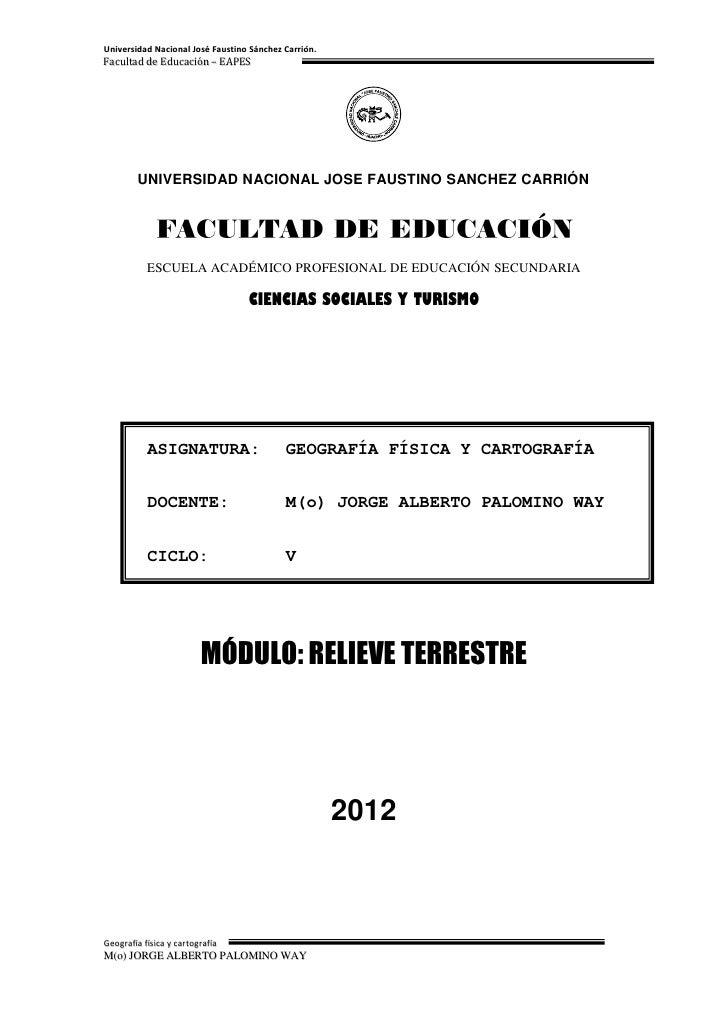 Universidad Nacional José Faustino Sánchez Carrión.Facultad de Educación – EAPES        UNIVERSIDAD NACIONAL JOSE FAUSTINO...