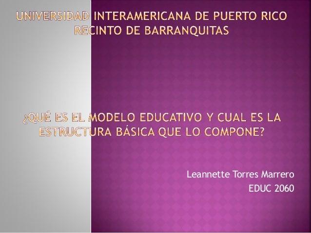 Leannette Torres MarreroEDUC 2060