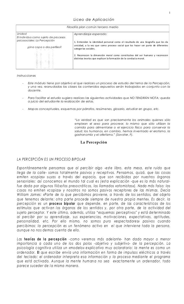 Liceo de Aplicación Instrucciones - Este módulo tiene por objetivo el que realices un proceso de estudio del tema de la Pe...