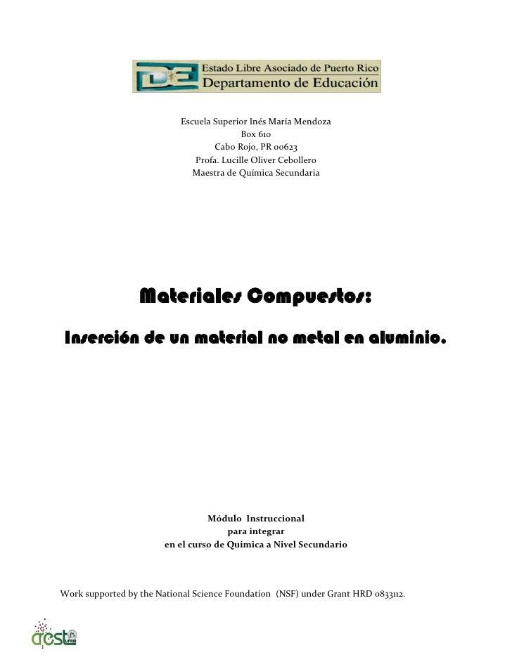 Escuela Superior Inés María Mendoza                                          Box 610                                   Cab...