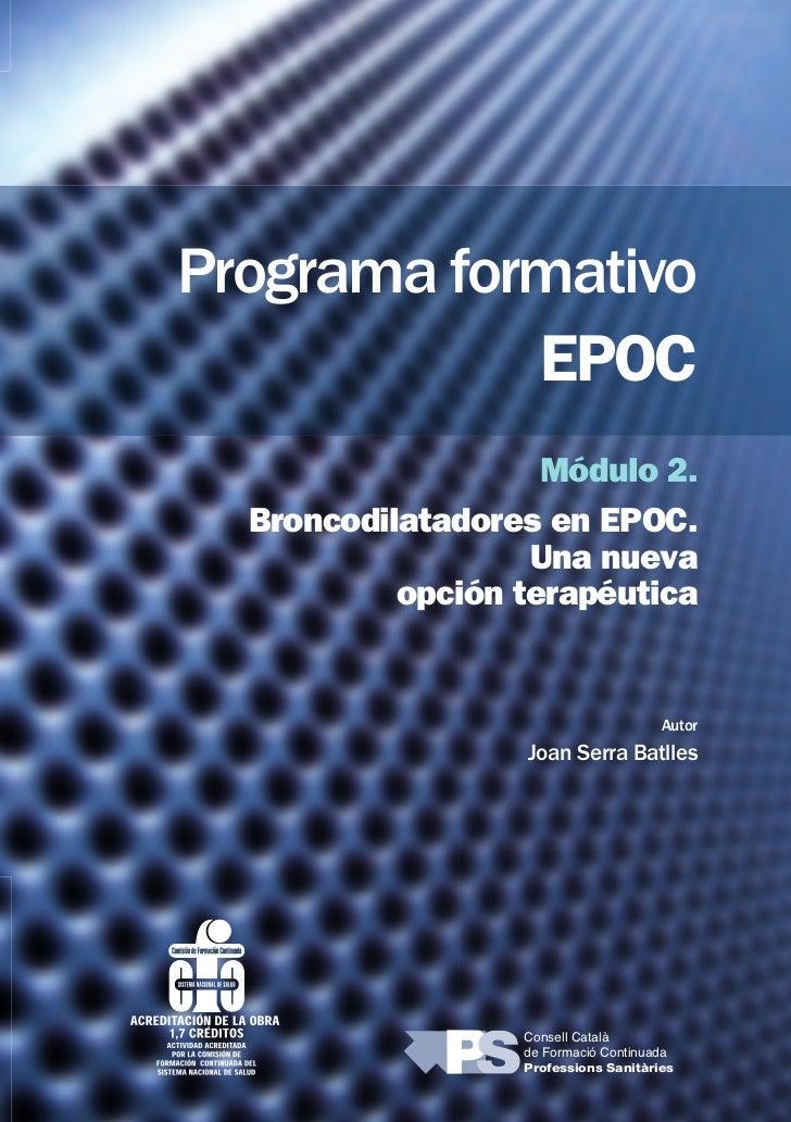 Programa formativo                                 EPOC                                         Módulo 2.                 ...