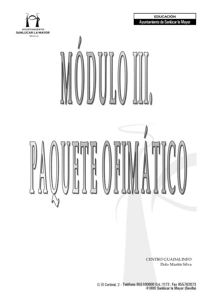 Modulo iii. paquete openoffece