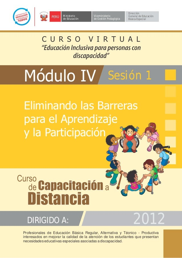 Modulo IV sesion 1 ELIMINANDO BARRERAS
