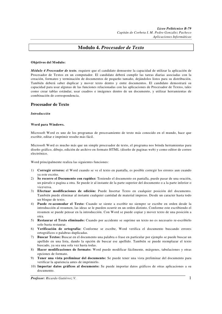 Liceo Politécnico B-79                                                             Capitán de Corbeta I. M. Pedro González...