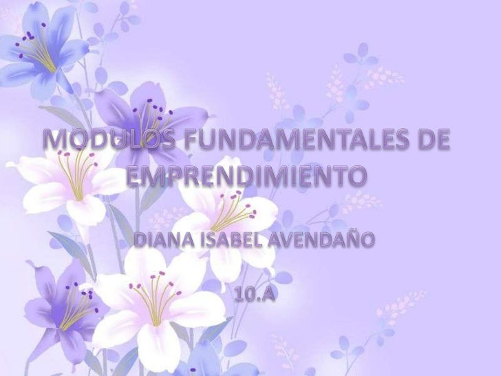 MODULO 1: FUNDAMENTACIÓN AL              EMPRENDIMIENTOOBJETIVOS DEL MODULO:  -Informar y motivar a las personas sobre el ...