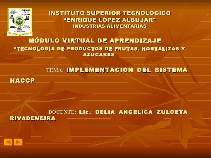 Modulo Virtual De Haccp Delia Zuloeta Rivadeneira
