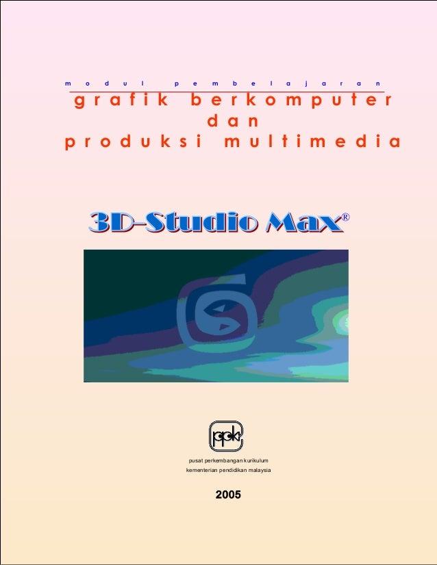 Modul pembelajaran 3D studio max