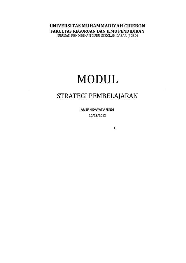Modul perkuliahan strategi