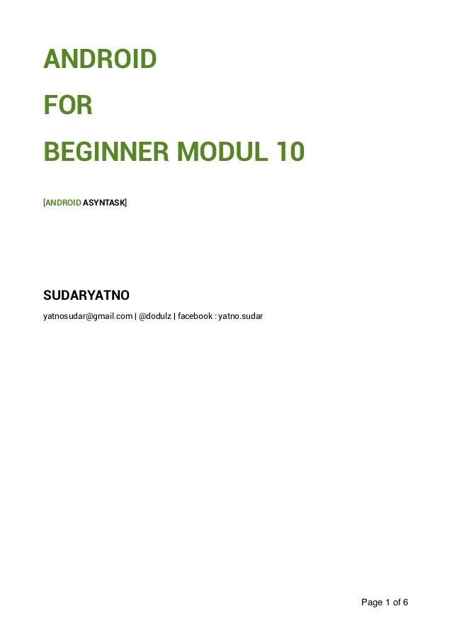 Modul praktikum 10 - Android Sudaryatno