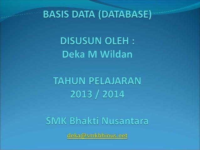 Modul basis data (database)