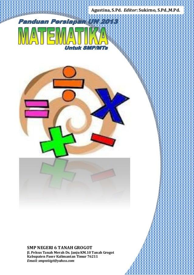 Panduan Persiapan UN 2013 Matematika SMP