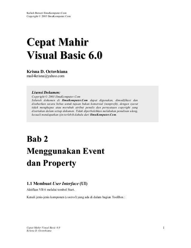 Modul visual basic (krisna 02)