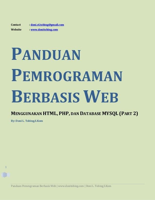 Tutorial Membuat Aplikasi Berbasis Web Dengan Php Mysql Bag 1 ...