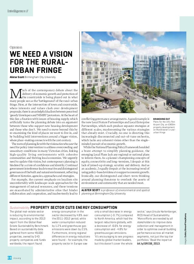 Modus viewpoint: whither planning at the rural urban fringe