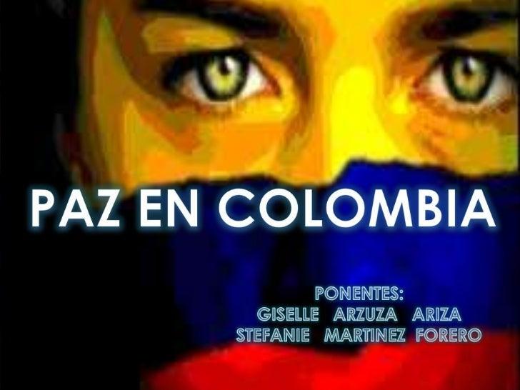 """HABLEMOS DE HISTORIA""""Proceso de Paz en Colombia"""" Colombia es un país que durante su historia reciente ha estado afectado p..."""