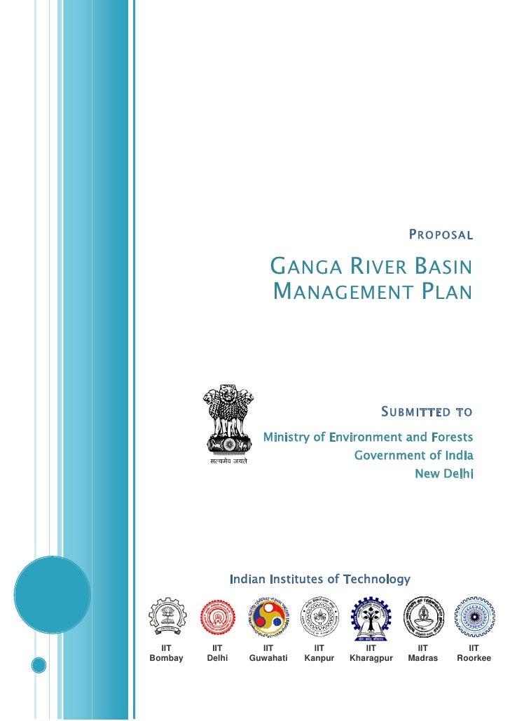 National Ganga Basin Management Plan : Proposal