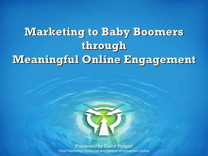 Marketing to Baby Boomers T
